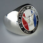 BOY SCOUT PFADFINDER EAGLE SCOUT SILVER 925 SIGNET RING