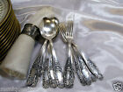 12Pcs. French Silver Plate Louis XVI Spoon & Fork Service for 6