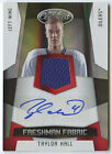 Taylor Hall 2010 Panini Certified RC Auto Jersey # 100 Devils Oilers FREE SHIP