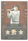 Babe Ruth 2010 Topps Sterling 3-Bat #3 25 JERSEY NUMBER Yankees FREE SHIP