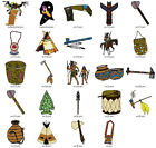 NATIVE AMERICAN COLL 1 LD MACHINE EMBROIDERY DESIGNS