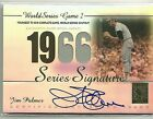 2003 Topps Tribute World Series Edition Jim Palmer Auto Autograph Jersey Card