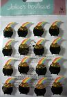 NEW 16 pc POT of GOLD Repeats Rainbow Treasure St Patricks Day JOLEES Stickers