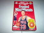 SEALED LARRY BIRD KELLOGG'S FROSTED MINI-WHEATS CEREAL BOX 20.4 OUNCE