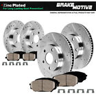 Front & Rear Drill Slot Brake Rotors And Ceramic Pads 2000 - 2004 Ford F150 4WD