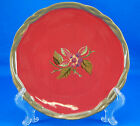 Tracy Porter OCTAVIA HILL GARDEN Salad Plate 8 in. Berries Red Brown Twist Edge