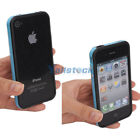 New Hard Frame TPU Bumper Case Skin Cove for iPhone 4 4S + 4G Screen Protector