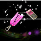 New USB 2.0 T-Flash/TF/Micro SD Memory Card Reader Writer Fuchsia