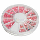 New Wheel Case Nail Art Decoration Round Pink 13#