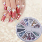 1800X2mm Nail Art Rhinestone Rectangle Shapes Glitters Tips Manicure Deco Wheel