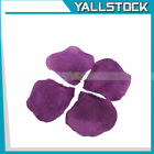 600pc Dark Purple Silk Rose Petals Wedding Flowers