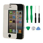 New Replacement LCD Front Screen Glass Lens for iPhone 4 4G White + Tools