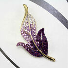 Elegant Charming Maple Leaf Style Rhinestone Brooch Pin