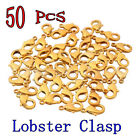 50 PCS Beautiful Gold Plated Jewelry Lobster Claw Clasp Link Hook Findings