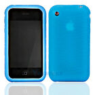 New Silicone Sillicon Case for iPhone 3G 3GS Blue