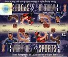 2011 UPPER DECK WORLD OF SPORTS HOBBY BOX (3 HITS BOX)