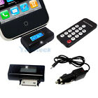 FM Radio Transmitter Remote Car Charger Square for iPhone 4S 3G iPod Touch Nano