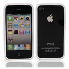 New TPU Bumper Frame Case Cover for iPhone 4 4S White