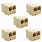 Lot 5 New LAN Ethernet Splitter Connector RJ45 CAT 5 6 Adapter PC