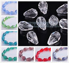 Wholesale 20pcs 10x14mm Big Teardrop Faceted Crystal Glass Loose Spacer Beads