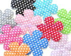 50 Padded Felt Cotton Swiss Dot Flower Appliques Multi Color 1 3 4 Craft A245