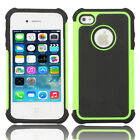 Silicone Robot Executive Armor Shock Proof Case Cover Skin for iPhone 4 4S Green
