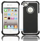 Silicone Robot Executive Armor Shock Proof Case Cover Skin for iPhone 4 4S White