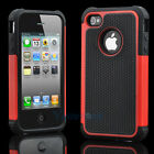 Silicone Robot Executive Armor Shock Proof Case Cover Skin for iPhone 4 4S Red