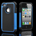 Silicone Robot Executive Armor Shock Proof Case Cover Skin for iPhone 4 4S Blue