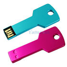 2 PCS USB 2.0 1G 1GB Metal Key Flash Memory Drive Thumb Design Fuchsia + Blue