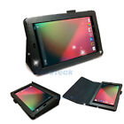 "New Folio PU Leather Case Cover With Stand For Google Nexus 7"" Tablet Black"
