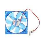 New IDE 120mm Computer Chassis Crystal Fan Host 4 Pins Transparent Blue
