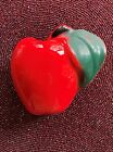 Unusual Vintage Red Ceramic Apple Wall Pocket / Vase