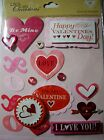 NEW 16 pc VALENTINES DAY STICKER MEDLEY Be Mine Love You + Me Forever K