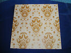 Anna Griffin 12 x 12 Glittered Gold Damask Paper Cecile Collection 2 SHEETS