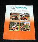 2008 KUBOTA TRACTOR EXCAVATOR FRONT MOWER FULL LINE CATALOG BROCHURE 71 PAGES