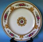 WEDGWOOD COLUMBIA MEDALLION 1 DINNER PLATE ROUND FLORAL WHITE BONE CHINA
