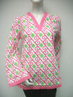 Tracy Negoshian Michelle Tunic Top Pink Green Preppy NEW NWT 100 cotton