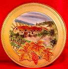 Large Fitz and Floyd Majolica Wall Plaque Platter Del Vino 12.5