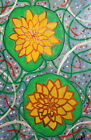Expressionist oil painting water lilies signed