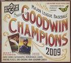 2009 Upper Deck Goodwin Champions Baseball Factory Sealed Hobby Box