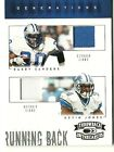 2005 Donruss Throwback Threads Barry Sanders & Kevin Jones Jersey Card #ed. 50