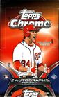 2012 Topps Chrome Baseball Factory Sealed Hobby Box -2 Chrome Autographs Per Box