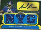 2011 Triple Threads NYG Jerrel Jernigan Auto Autograph & Jersey Rookie RC 25 99