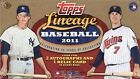 2011 Topps Lineage Baseball Factory Sealed Hobby Box - 2 Autos & 1 Relic Per Box