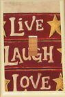 LIVE LAUGH LOVE  SINGLE TOGGLE SWITCH PLATE LIGHT COVER