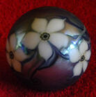 orient glass flume 1977 flowers I 95 M vintage art master Paperweight paper fine