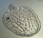 HAZEL ATLAS ORCHARD CRYSTAL CLEAR MOLDED GLASS GRAPE DISH PLATE