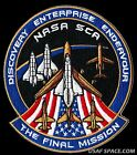 ORIGINAL THE FINAL MISSION SHUTTLE CARRIERS OF AMERICA SCA NASA PATCH