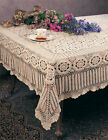 Handmade Crochet Lace Cotton Tablecloth, Various Sizes, Shapes and Colors